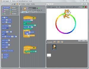 Lukket opgave - 04 - Næsten cirkel med skiftende farver